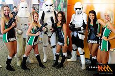 May the cheer be with you! Proof that even a geek can land themselves a hot babe! Introducing the Townsville Crocs cheerleaders! (Getty Images)