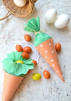 How to make carrots Easter placeholder - Tutorial - The Figurine Easter Candy, Easter Gift, Happy Easter, Bunny Crafts, Easter Crafts, Easter Festival, Diy And Crafts, Crafts For Kids, Ideas Para Organizar