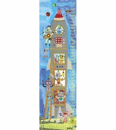 Rocket Robots Growth Chart by Oopsy Daisy, Growth Charts,Personalized Art, Art for Boys