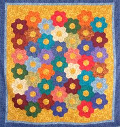 Giant Garden Quilt  Free Pattern: http://www.paperpieces.com/contents/en-us/d30.html