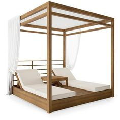 Daybed Canopy, Diy Daybed, Outdoor Daybed, Outdoor Lounge, Outdoor Chairs, Lounge Chairs, Cabana, Black Floor Lamp, Custom Cushions