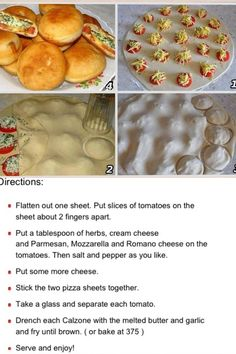2 sheets of pie crust prepared or make your own. or use this recipe for frybread 5 tomatoes sliced thin. a Tablespoon Herbs (Rosemary,oregano, basil or any Italian herbs) Cream cheese, Parmesan, Mozzarella, Romano (or a blended package of fine shredded cheese) salt and pepper to taste. Blend the herbs and cheeses together
