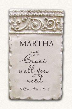 Personalized Name Plaque 2 Corinthians 12:9