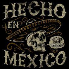 #artesaniasMexicanas Art Chicano, Cholo Art, Mexican Skull Tattoos, Mexican Skulls, Mexican Skeleton, Los Muertos Tattoo, Mexican Artwork, Totenkopf Tattoos, Aztec Warrior