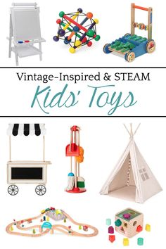 Our Favorite Minimalist Baby Gear and Vintage Toys - Bless'er House A round-up shopping guide of the most highly rated streamlined modern baby gear and vintage-inspired STEAM toys to inspire sensory development. #minimalist #kidstoys