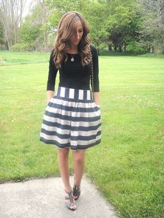 Lilly's Style: Striped Skirt