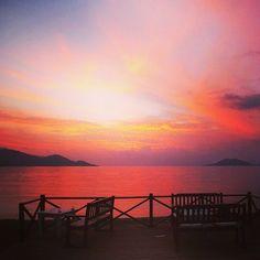 Çalış Beach Sunset, December #Fethiye #Turkey
