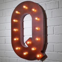 Custom 21 Rust Letter Q Vintage Marquee Signs
