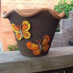 Vaso decorado com mosaico - Ana Vasconcellos