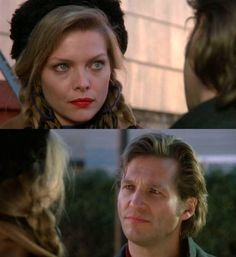 "Michelle Pfeiffer & Jeff Bridges in ""The Fabulous Baker Boys""."