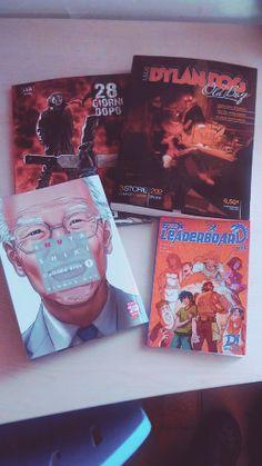 #C4comodino Sempre pieni di fumetti interessantissimi i nostri redattori #Inuyashiki #HiroyaOku Panini Comics Italia #THELEADERBOARD  #RiccardoGamba #FedericoChemello #MaurizioFurini #DayjobStudio #28GiorniDopo #GuerrafraGang Editoriale Cosmo #AragonAle #NelsonMichaelAlan #DylanDog #OldBoy Sergio Bonelli Editore