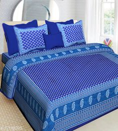 Checkout this latest Bedsheets_500-1000 Product Name: *Classic Stylish Bedsheets* Fabric: Cotton No. Of Pillow Covers: 2 Thread Count: 144 Multipack: Pack Of 1 Sizes: Queen (Length Size: 100 in, Width Size: 90 in, Pillow Length Size: 27 in, Pillow Width Size: 17 in)  Country of Origin: India Easy Returns Available In Case Of Any Issue   Catalog Rating: ★4 (472)  Catalog Name: Elegant Fancy Bedsheets CatalogID_3437923 C53-SC1101 Code: 753-17119205-807