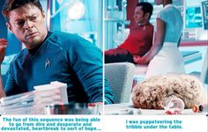 I just want to know whose bright idea it was to bring a Tribble onboard.