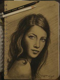 Draw of Leila Bekhti Leila, Different Media, Art Abstrait, Illustrations, My Drawings, Journals, Mona Lisa, Artwork, Dibujo