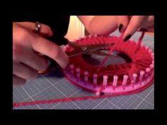 deutsche Anleitung für eine Mütze (oder Beanie) mit Knitting Loom bzw. Strickring - YouTube