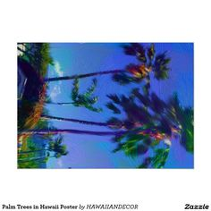 Palm Trees in Hawaii Poster