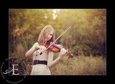 Senior with violin