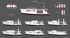 the multi-purpose vessel utilizes an adaptable framework to achieve six unique designs by shifting and altering various construction elements.