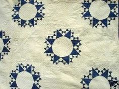 Antique Quilt Patterns on Is A Great Blue White Antique Quilt In A Pattern I Haven T Seen Before