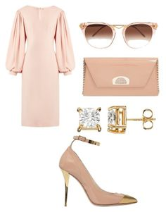 """""""Untitled #78"""" by leticia-emberton on Polyvore featuring Osman, Balmain, Christian Louboutin and Thierry Lasry"""