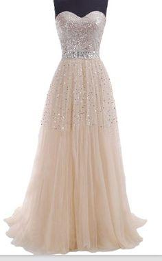 Charming A-line Floor Length Chiffon with Beadings Prom Dress