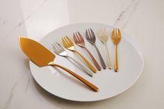 Sambonet Linear 7-delige gebakset - mix&play?   Woldring Fork, Tableware, Kitchen, Play, Products, Forks, Shovel, Ice, Tablewares