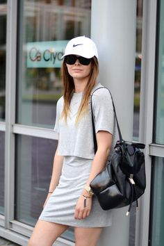 #itslilylocket #fblogger #streetstyle #nike #stansmith #minimalism #baseballcap #lucymason Stan Smith, Just Do It, Minimalism, Personal Style, Mini Skirts, Lily, Street Style, Shirt Dress, Shirts