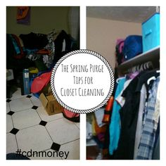 The Spring Purge-Tips for Closet Cleaning - Common Cents Mom Organisation Hacks, Cleaning Closet, Things To Do, App, Spring, Things To Make, Apps, Todo List