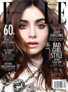 Lily Collins covers September 2013 issue of Elle Canada