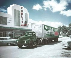 In 1951, Publix said its 24 stores grossed more than $18 million. The same year it built its first warehouse complex in Lakeland, Florida, from which trucks like this one delivered products.