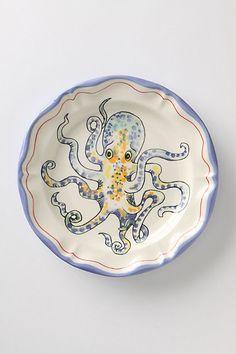 De Vincennes Dinner Plate, Octopus #anthropologie