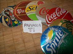 reciclar cds en posavasos con latas de bebida