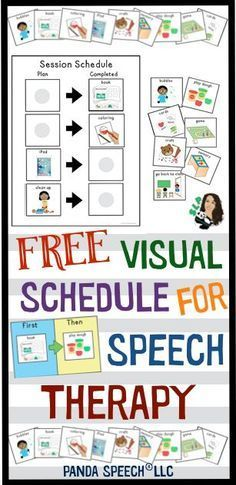 Free visual schedules for speech therapy.
