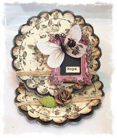 "~Swirlydoos Kit Club~ ""Hope"" Easel Card - Scrapbook.com"