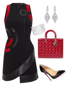 """Simply Put"" by arta13 on Polyvore featuring David Koma, Christian Louboutin, Diana M. Jewels and Allurez"