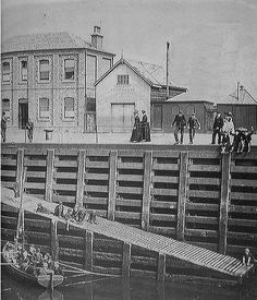 Princes Pier, Greenock, Renfrewshire, Scotland. Late 1800'