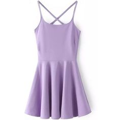LUCLUC Purple High Waist Strappy Backless Skater Mini Dress ($23) ❤ liked on Polyvore featuring dresses, vestidos, skater dress, backless dress, short skater dress, strap dress and short purple dresses