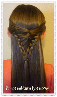 arrowhead #braid tutorial, half up #hairstyle