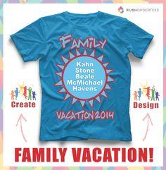 Mejores 16 imágenes de Family Vacation T-Shirt Designs en Pinterest ...