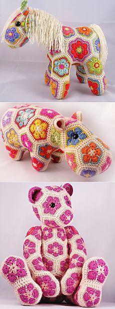 Игрушки из мотива «Африканский цветок». Идея для вязания | Шкатулочка для рукодельниц