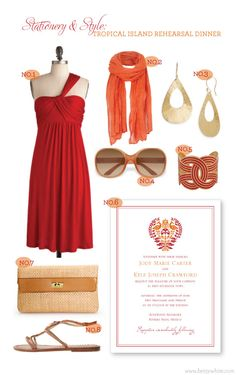 Stationery & Style: Tropical Island Rehearsal Dinner