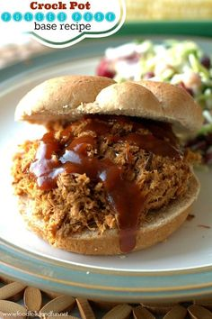 Slow Cooker Pulled Pork Recipe. Come join me as I kick off PORK PALOOZA where I'll be showing you how  you can use a 5-6 pound pork roast to make 7 different recipes with it!