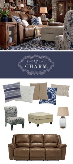 Pastoral Charm™ Living Room Style - Fresh, Soft Colors, Neutrals - Ashley Furniture