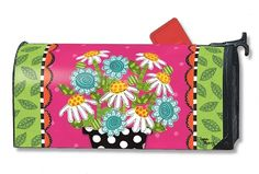 Magnet Works Mailwraps Mailbox Cover - Frolic Flowers Design Magnetic Mailbox Co