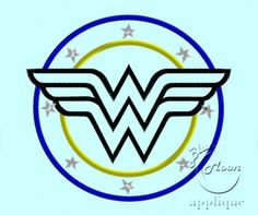 Wonderwoman Emblem Applique Design for Embroidery Machines 5x7 - instant download   EmbroideryDesigns - Patterns on ArtF