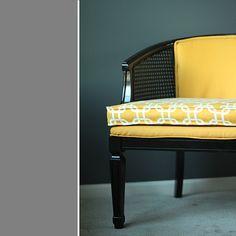black cane chair