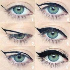 delinear olho de gato