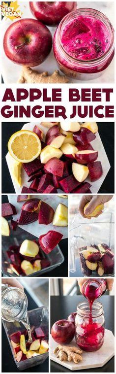 Red Apple Beet Ginger Juice - The Viet Vegan