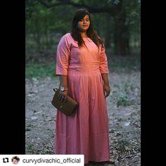 Women S Plus Size Cotton Knit Dresses Refferal: 2357561805 Aunty Desi Hot, Full Figure Fashion, Girls Wardrobe, Indian Outfits, What I Wore, Plus Size Women, Plus Size Outfits, Plus Size Fashion, Curvy