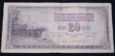 Old 20 dinar banknote from SFRJ (The Socialist Federal Republic of Yugoslavia), issued in 1974. Extremely fine condition. Free shipping worldwide. Price: $40.